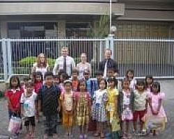Happy Students and Teachers in Surabaya