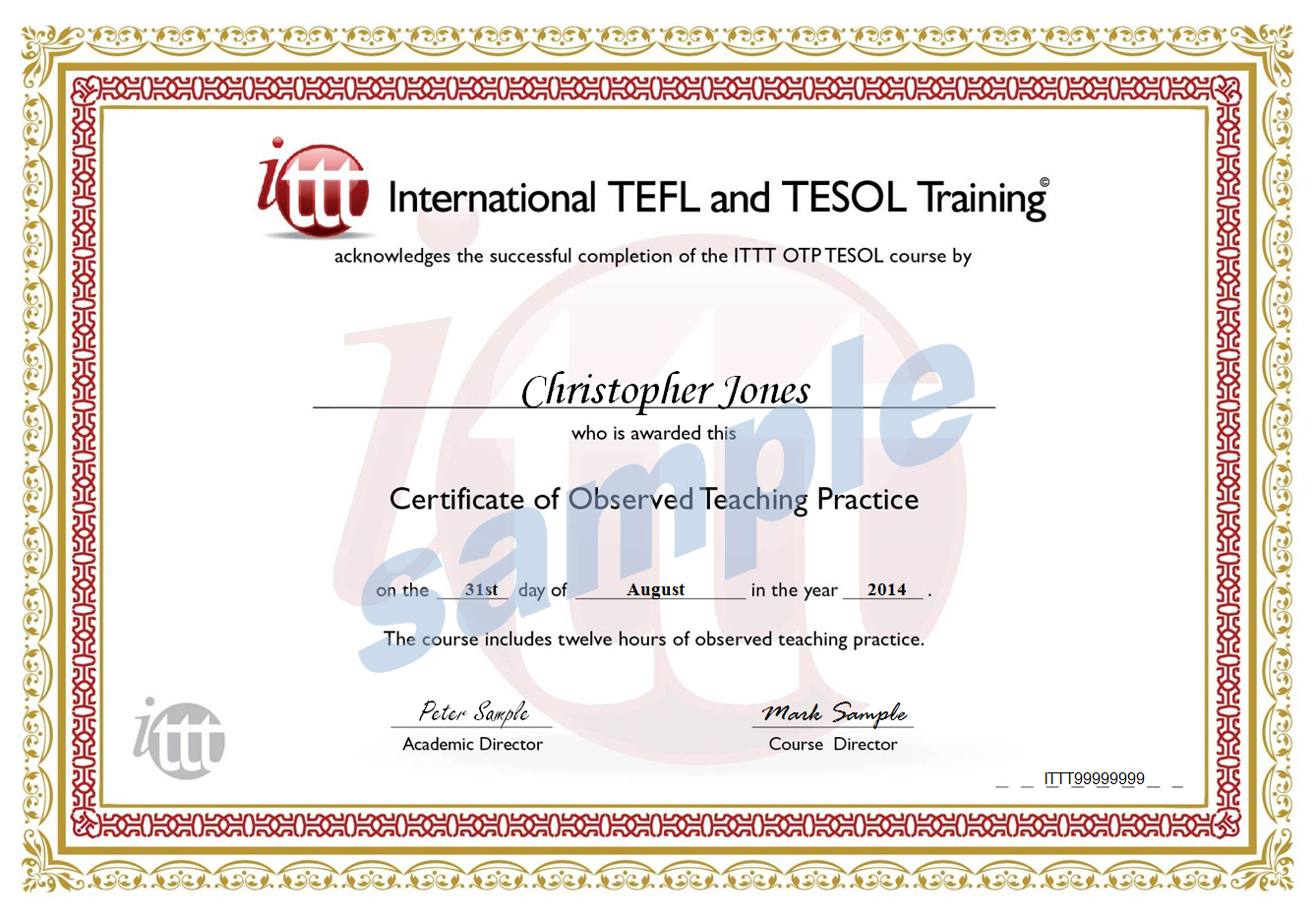 Observed teaching practice 50 hour tefl certificate sample xflitez Images