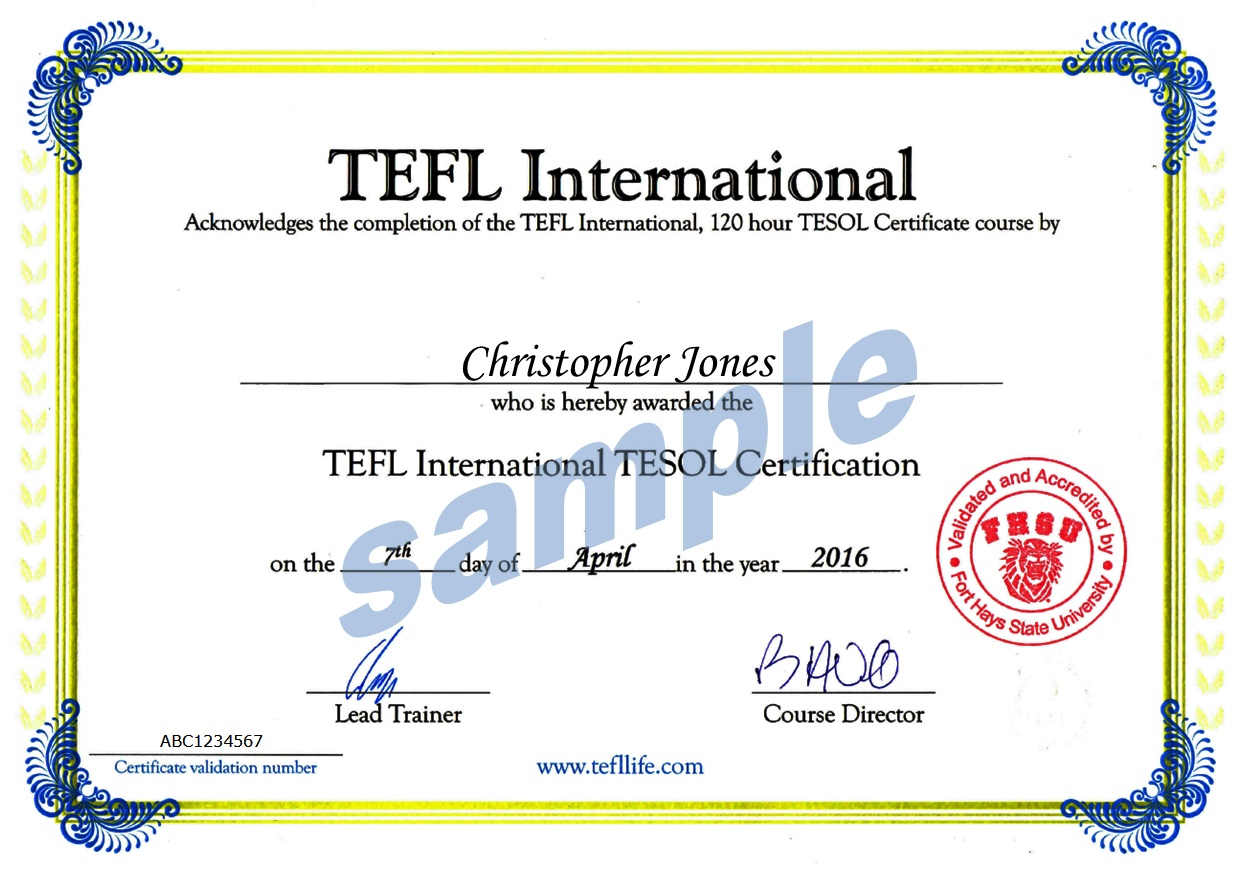 Tefl Tesol In Class Course