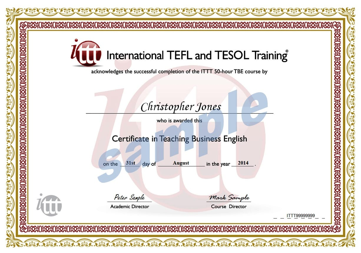 Business english 50 hour tefl certificate sample yelopaper Image collections