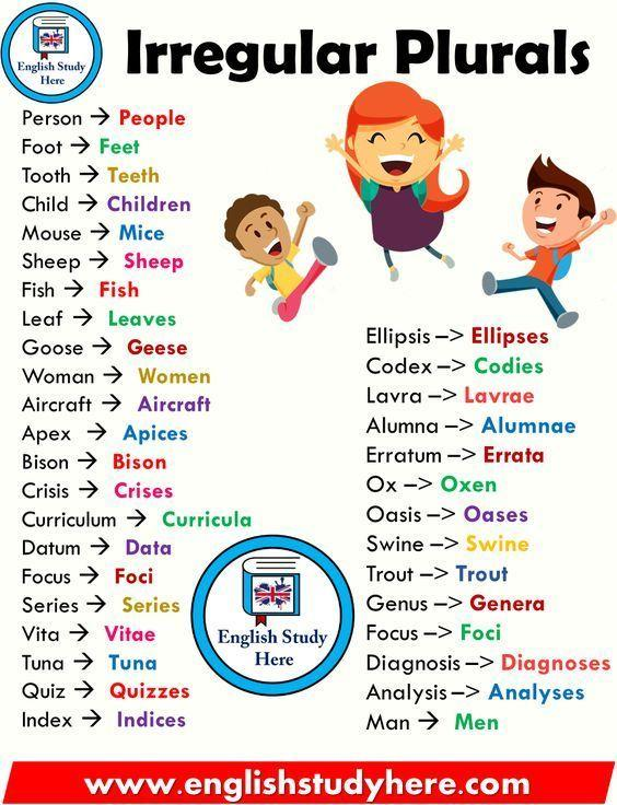 Grammar Corner Irregular Plural Nouns You Have To Know