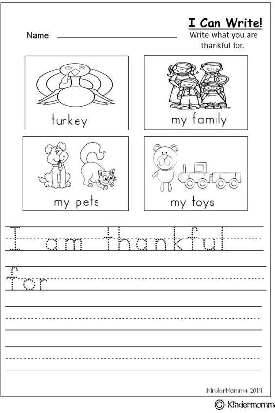 Grammar corner Free Thanksgiving Writing Worksheet