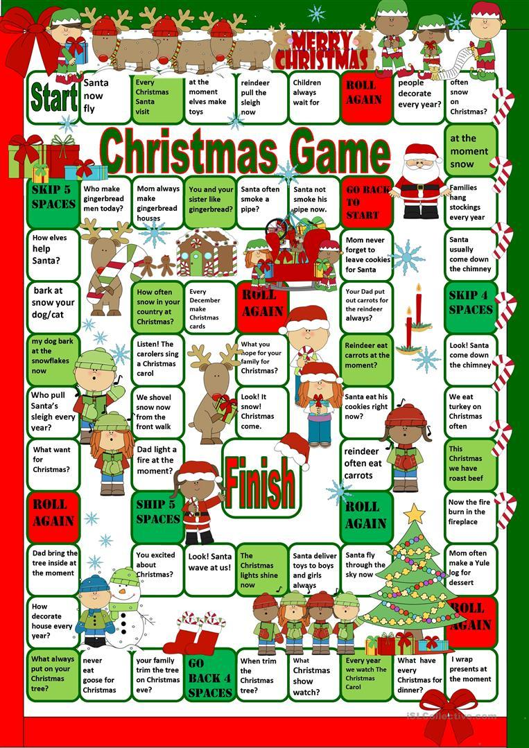 Grammar corner Christmas Board Game