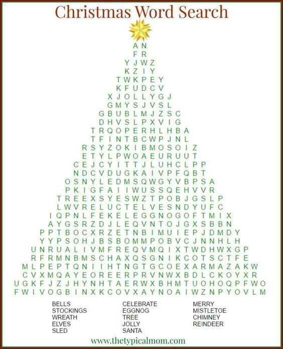 Grammar corner Christmas Word Search Printable