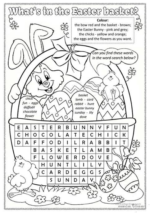 Grammar corner Easter Word Search
