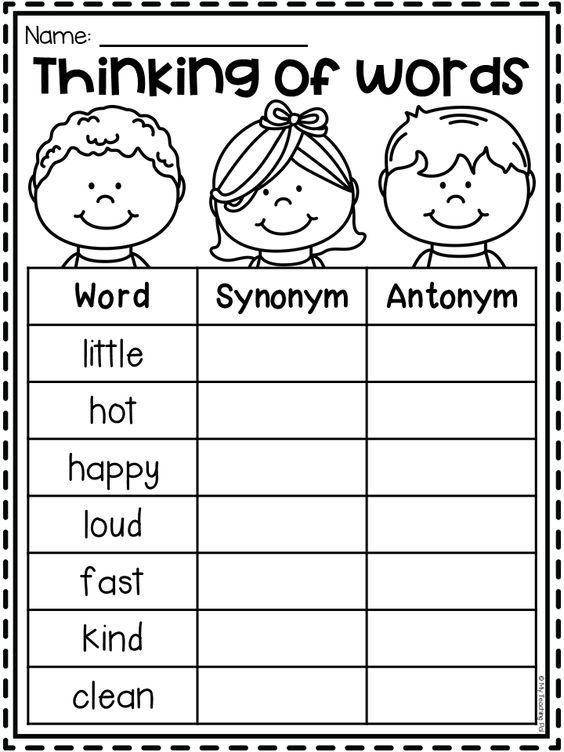 Grammar corner Synonym and Antonym ESL Worksheet