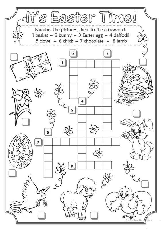 Grammar corner Easter Crossword