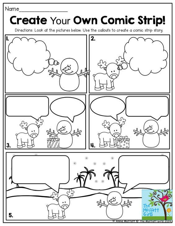 Grammar corner Create Your Own Christmas Comic