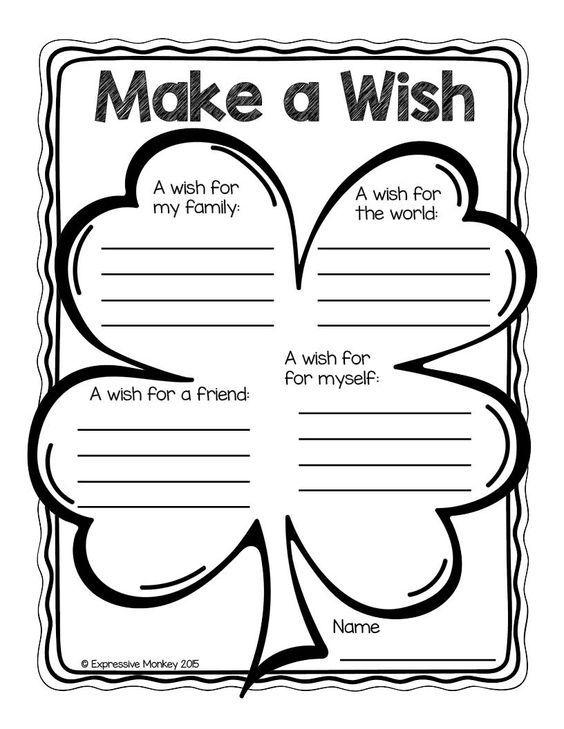 Grammar corner Make a Wish Worksheet