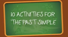 Infographic 10 activities for the past simple