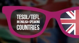 Infographic TESOL/TEFL in English-speaking countries