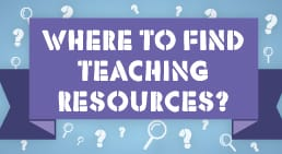 Infographic Where to Find Teaching Resources?