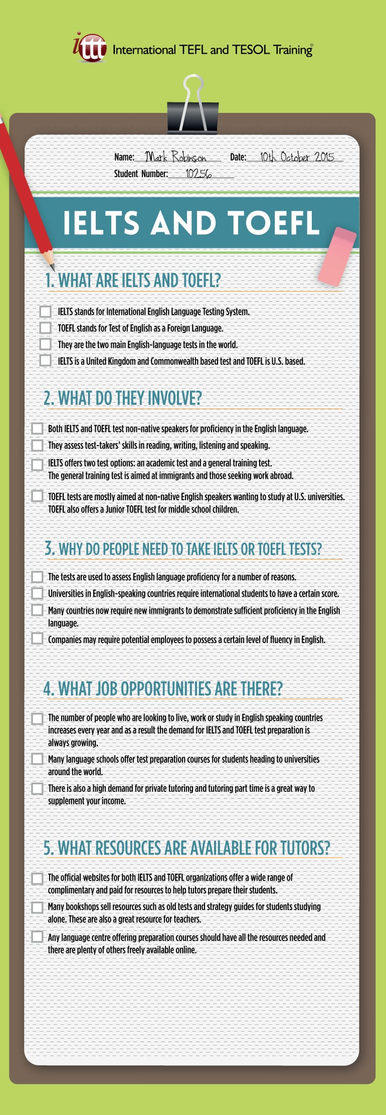 Infographic IELTS and TOEFL