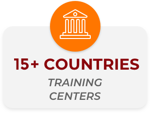 30+ countries training centers