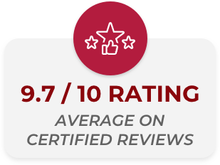 9.7/10 rating average certified reviews