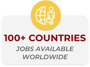 100+ countries jobs available worldwide