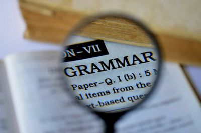 the word grammar in the dictionary