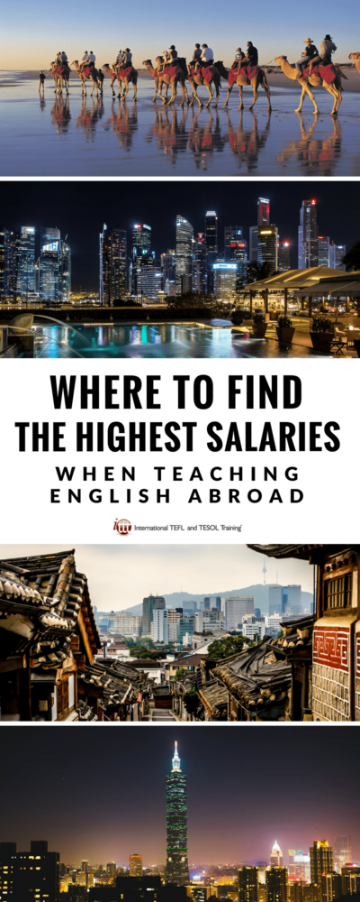 Where to earn the highest TEFL salaries